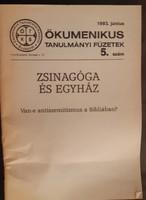 ZSINAGÓGA ÉS EGYHÁZ  -  JUDAIKA