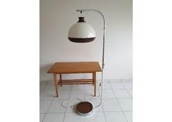 Retro régi krómozott állítható Szarvasi állólámpa mid century lámpa