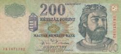 200 forint bankjegy 2004 FB