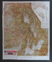 1B543 Székelyföld térkép M.Kir. Honvéd térképészet 67 x 83 cm