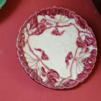 Körmöcbányai majolika tányér, fali tányér. Virág dísszel
