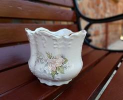 Angol  kaspó,  virágos, virágnak,  12*14 cm.  Gyönyörű darab