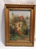 Egyed Imre 1976 Templom festmény