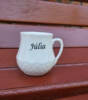 6 cm magas Witeg Kőporc Júlia hasas bögre