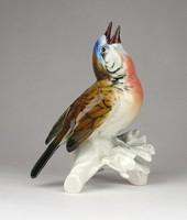 0Y640 Régi ENS porcelán madár vörösbegy 12 cm