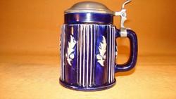 Art Deco söröskorsó ón fedéllel  - Reinhold Merkelbach 3480