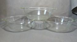 3 darab nagyméretű üveg tál