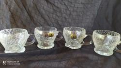 Német fátyol üveg teás csészék - hibátlan
