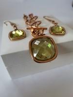 Olasz ékszerszett nyaklánc fülbevaló / Italian Designer Jewellry Set Necklace and Earrings