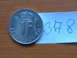 LUXEMBURG 1 FRANK 1991 IML # 378