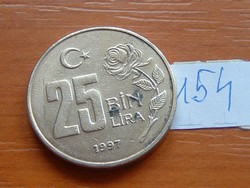 TÖRÖKORSZÁG 25 BIN 25.000 LÍRA 1997 RÓZSA 154.
