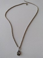 Szép régi mutatós ezüst nyaklánc medállal