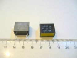 ZAVARSZŰRŐ KONDENZÁTOR 22nF 250V AC X2 C2452 vintage REMIX NOS-MPL csomagautomatába is mehet