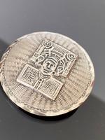 Régi mexikói ezüst Medál-Bross