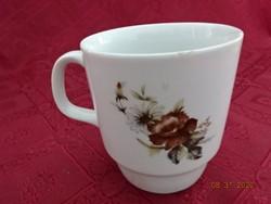 Alföldi porcelán rózsa mintás bögre.