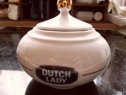 Gyűjtői retro Alföldi Porcelán DUTCH LADY bonbonier, cukros