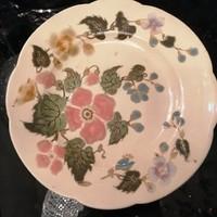 Zsolnay. Kerámiá majolika tányér, fali tányér. Kézzelfestett. F-24