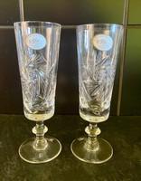 Ajkai kristály pohár szett 2 db os dobozában új