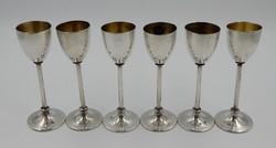 6 db ezüst pálinkás pohár