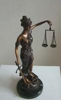 Justitia szobor  /bronz/ 45 cm