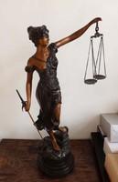Justitia szobor  /bronz/ 76 cm