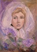 Magony Henriett Orgona című festménye