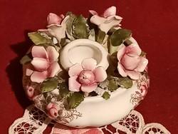 """39 Royal Albert """"Lavender Rose"""" angol porcelán gyertyatartó rendkívül szép darab 5x8 cm"""