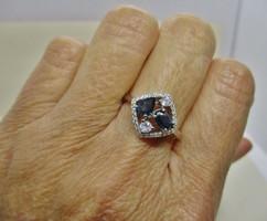 Csodás valódi zafírköves ezüstgyűrű