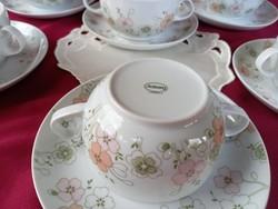 197 6 személyes csodás virág mintás Azrberg két fülű teás készlet
