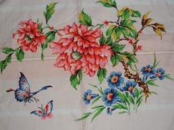 Japán virág mintás ágytakaró, terítő