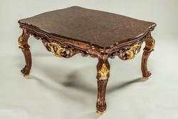 Exkluzív tömör mahagónifa asztal