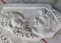 Ókori római márvány fríz gipsz lenyomata 2020/50