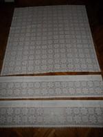 Gépi vitrázs függöny, terítő ( 3 db.)