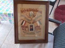 WW1,Német katona, 50x40 cm