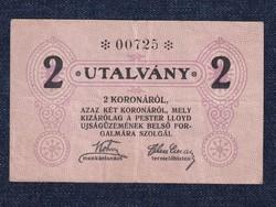 Magyarország Pester Lloyd Újságüzem 2 korona utalvány (id30008)