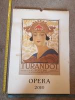 Opera naptár, 2010, olasz, érdes művészpapíron, méret jelezve!