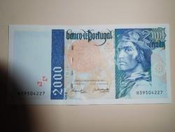 Portugália 2000 escudós 1996 UNC  Nagyon ritka! Euró előtti!
