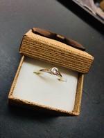 Gyémánt köves szoliter gyűrű