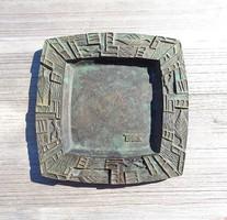 Bán Edit szobrász (1905-1966), bronz ÉPTEK tálka
