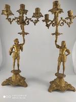 Antik reneszánsz gyertyatartó párban