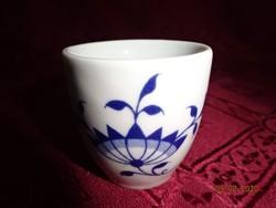 Német porcelán pálinkás kupica, kobalt kék mintával.