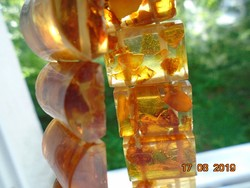 Amber bracelet with inclusions