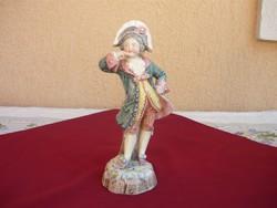 Napoleon kalapos Francia nemes, Antik szobor, Jelzett, 1800 as évek.