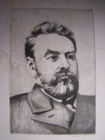 Molnár Gabriella: Reiszner János  Rézkarc, jelzett,  képméret 29 x 19,5 cm, lapméret 49,5 x 34 cm  K