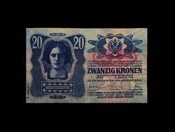 20 KORONA - BÉCS 1913  - DÖ BÉLYEGZÉSSEL