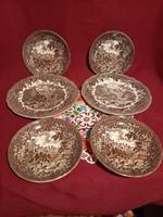 192 Merrie england Derbyshire angol porcelán tányérok 4 süteményes 2 lapos tányér