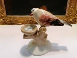 Aquincum porcelán madár szobor