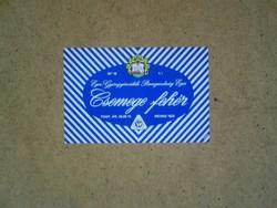 Régi boros címke (Csemege fehér) 1974