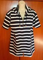 Feltűnően szép eredeti Bogner póló kék fehér csíkos,vitorlás márka, teljesen új!
