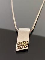 Gyönyörű ezüst nyaklánc és Medál Markazit kövekkel